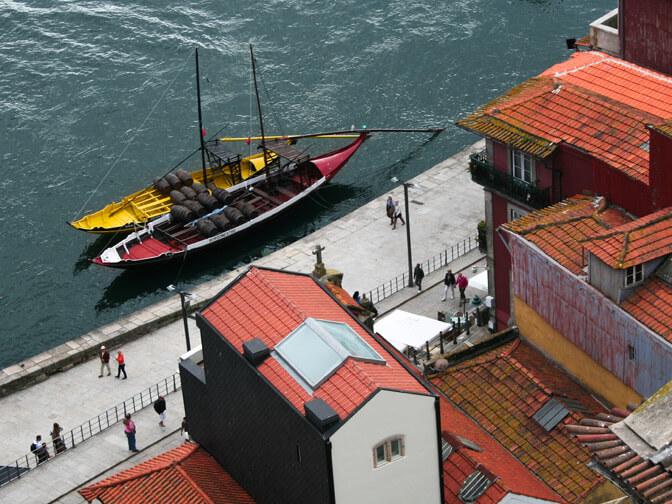 Bateaux amarrés à Porto