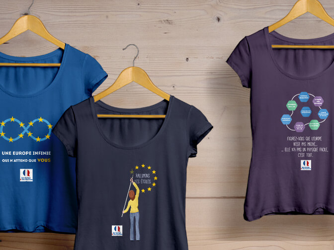 T-shirts Europe & Des Hommes
