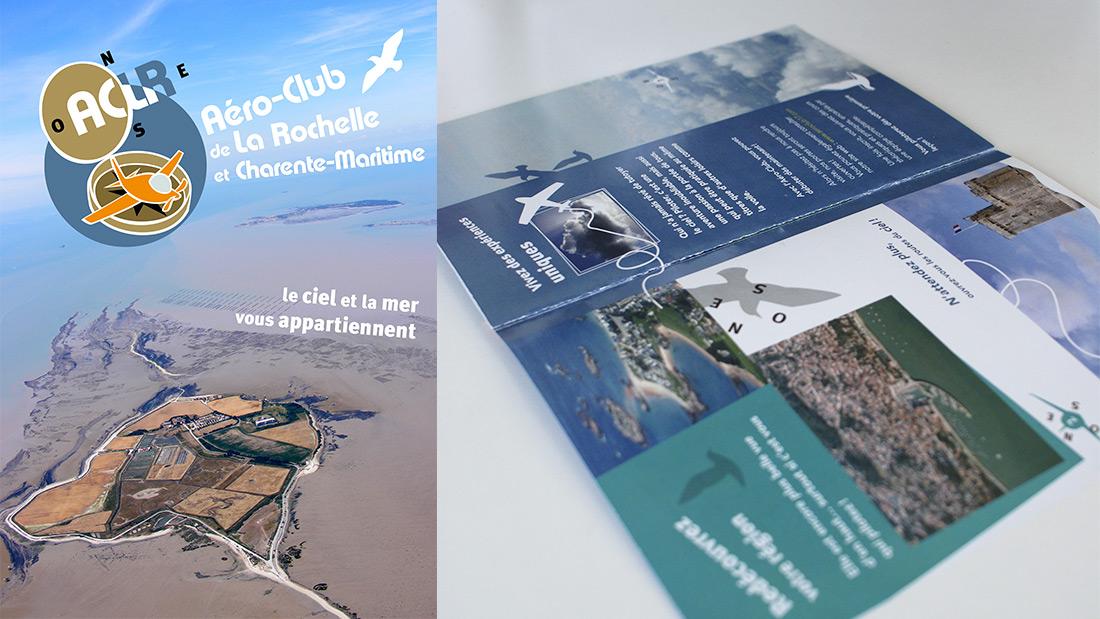 Identité Visuelle pour l'Aéro Club de La Rochelle et Charente-Maritime