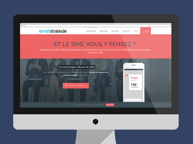 Site et plateforme EmailStrategie / Application LikeLunch