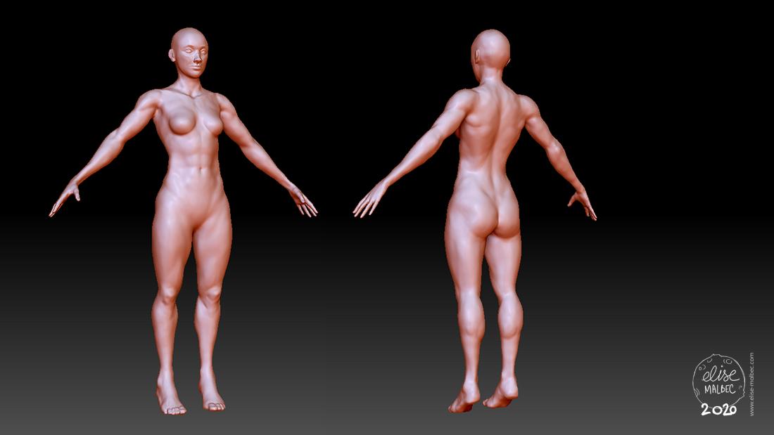 Modèle 3D - personnage
