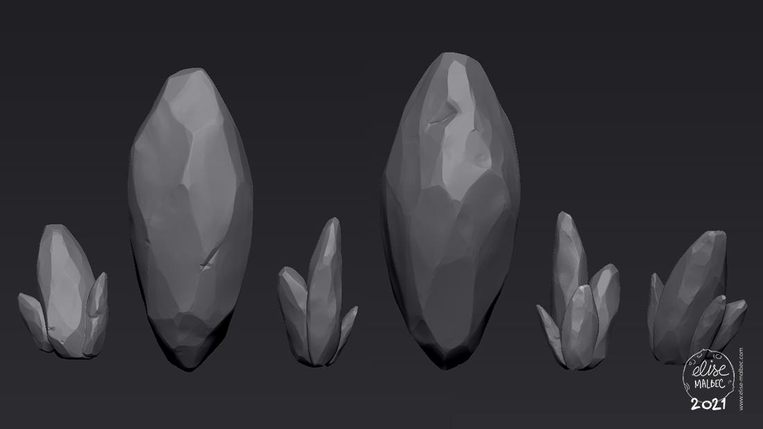 Crystals sculpting
